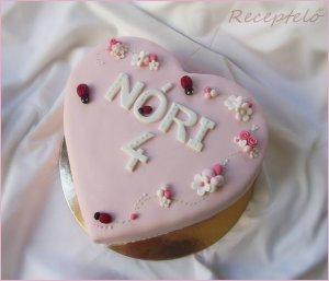 szív torta katicás valentin
