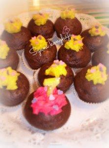 csokis banános cupcake szív valentin