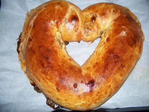 almás diós szív kalács valentin