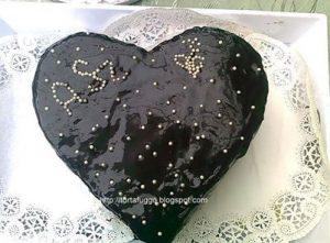 csokiglazúros szívtorta valentin