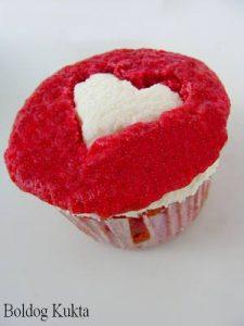 szív muffin valentin