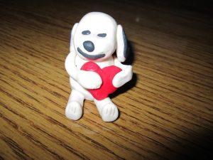 marcipán kutya szív valentint