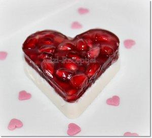 panna cotta szív valentin