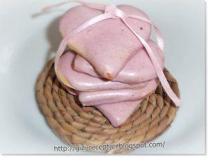 omlós keksz szív valentin