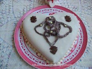 Lúdláb torta szív valentin
