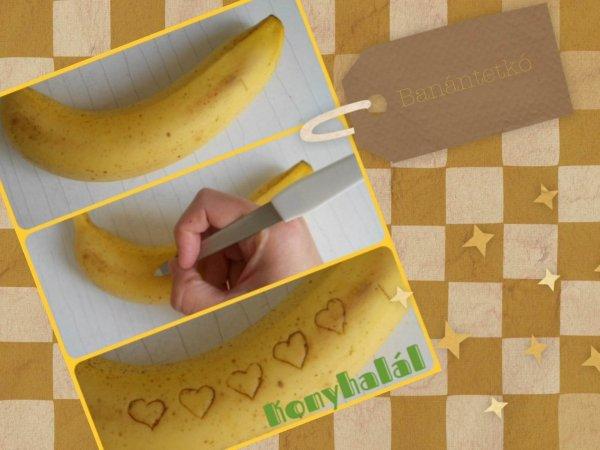 Banántetkó tetoválás szív valentin