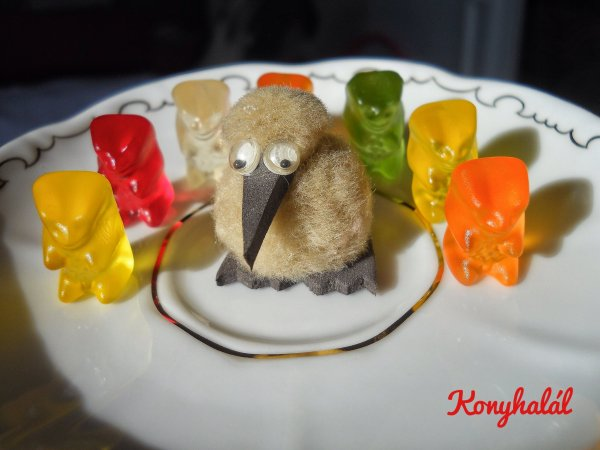 Gumicukorimádó szülinapi tortája