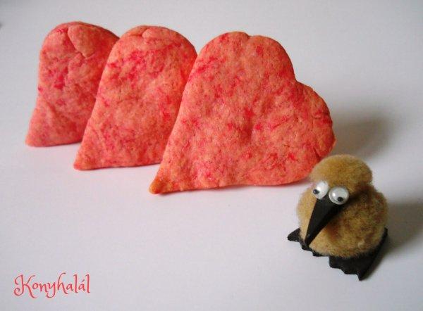 Marcipán ízű szív keksz