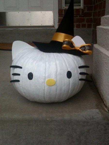 sütőtök dekoráció hellyo kitty pumpkin decoration halloween