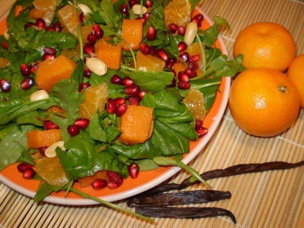 mandarinos sütőtöksaláta