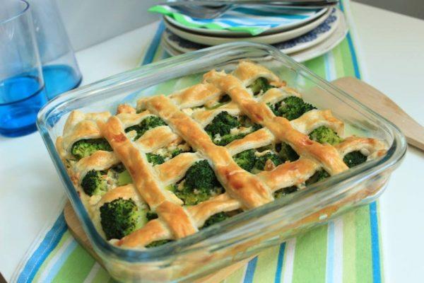 brokkoli és gorgonzola pie