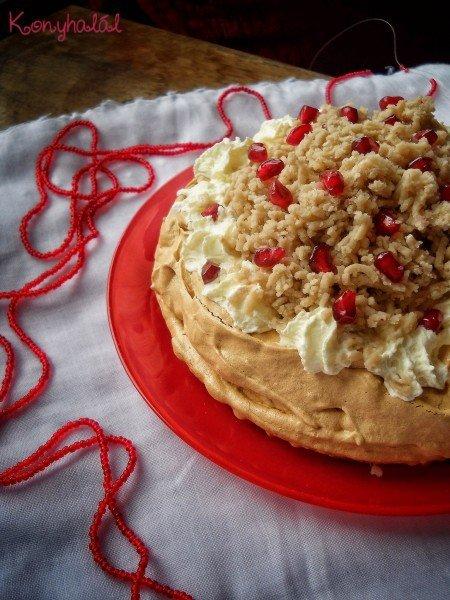 gesztenyés pavlova torta