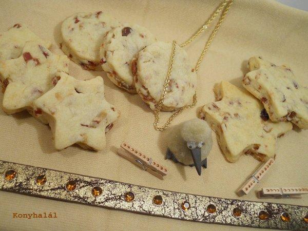 gasztroajándék aszalt gyümölcsös keksz
