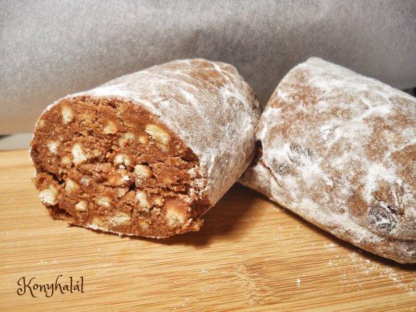 keksz szalámi recept