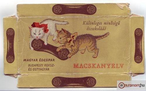 Macskanyelv retro