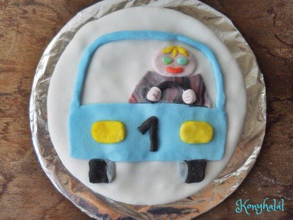 Autó torta car cake