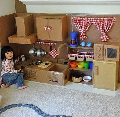 cardboard box kitchen