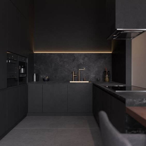 fekete konyha